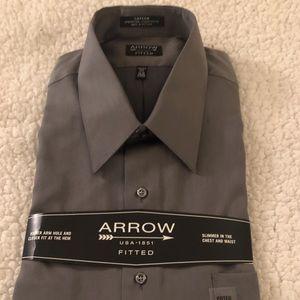 Fitted sateen dress shirt by Arrow